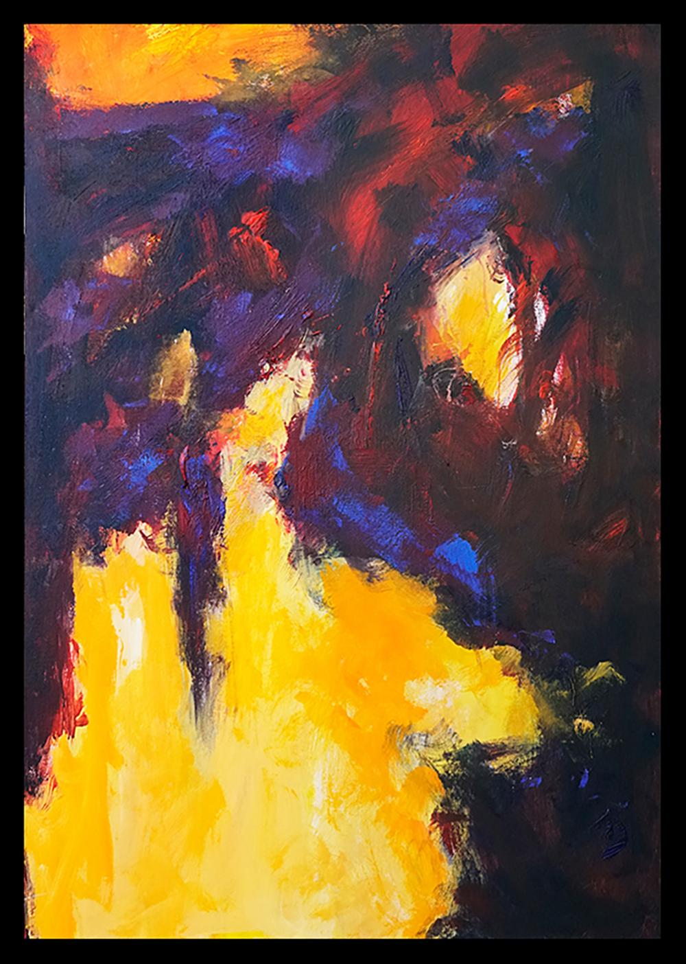 Abstract Original on canvas by Michael Schofield