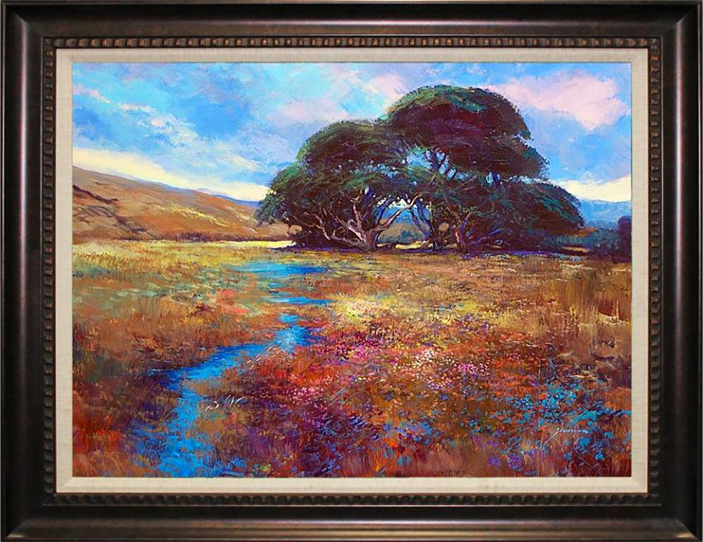 Hand embellished Limited edition on canvas by Michael Schofield