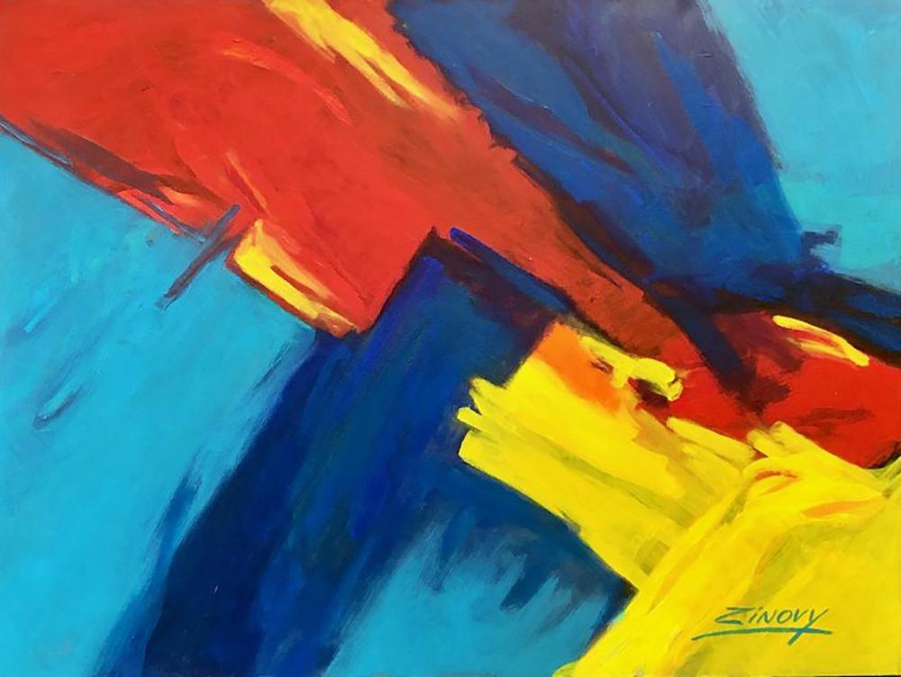 Zinovy Shersher original abstract on canvas