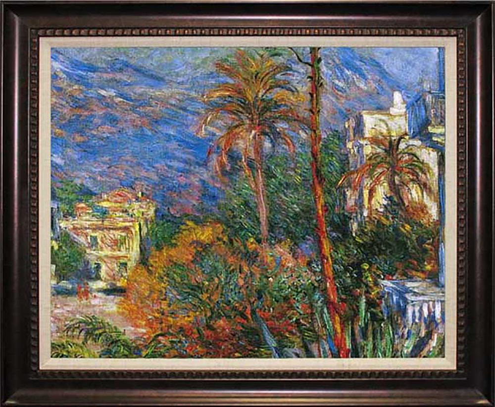 Claude Monet Villas at Bourdighera Hand Embellished