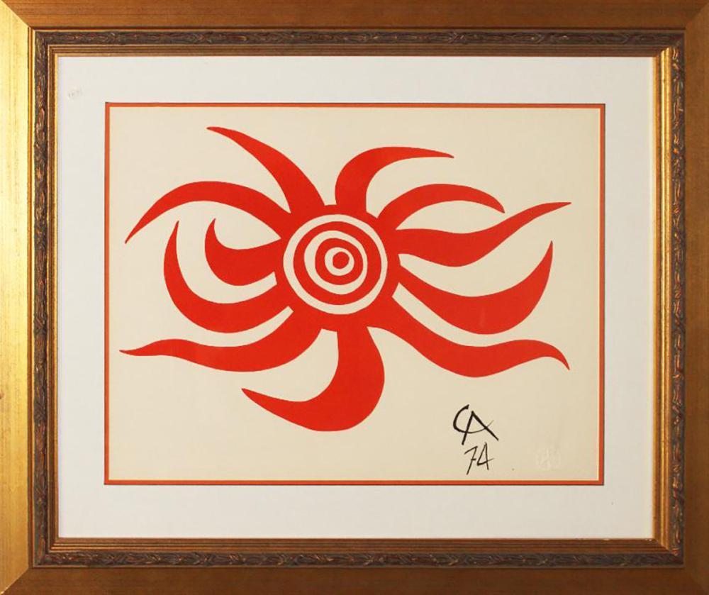 Alexander Calder original lithograph 1974