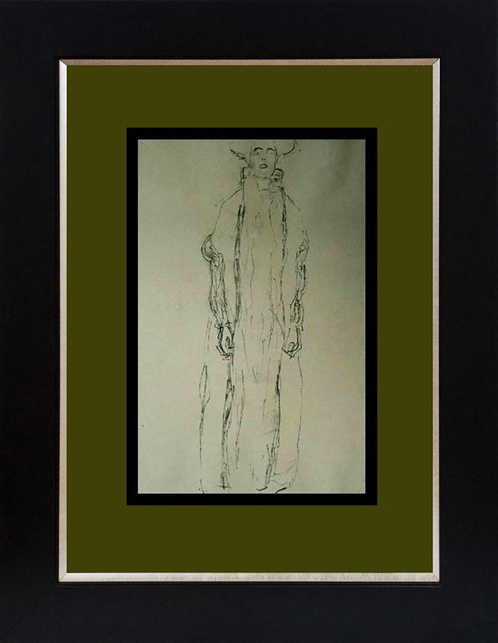 Gustav Klimt Lithograph from 1966