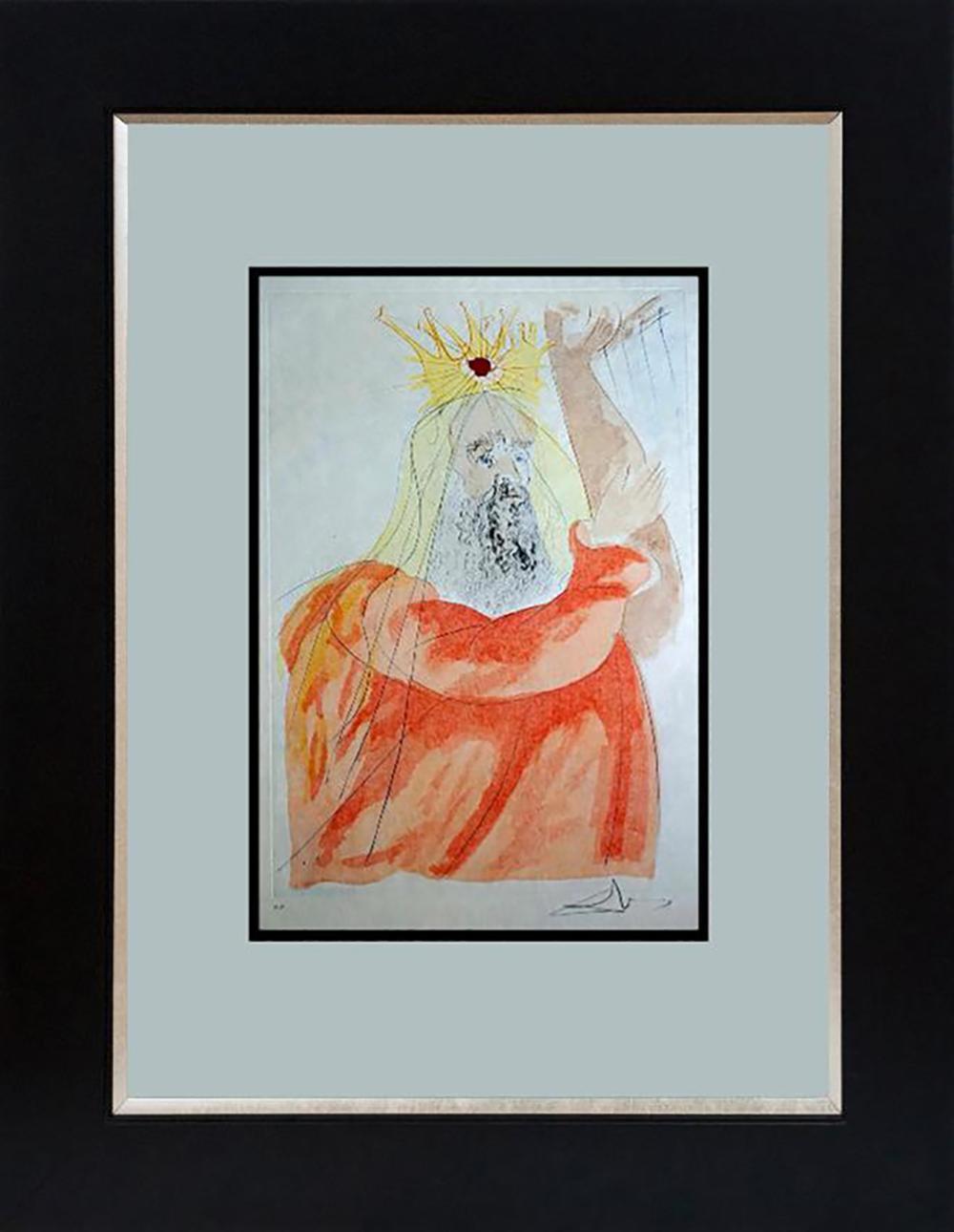 Salvador Dali King David Lithograph Limited Edition