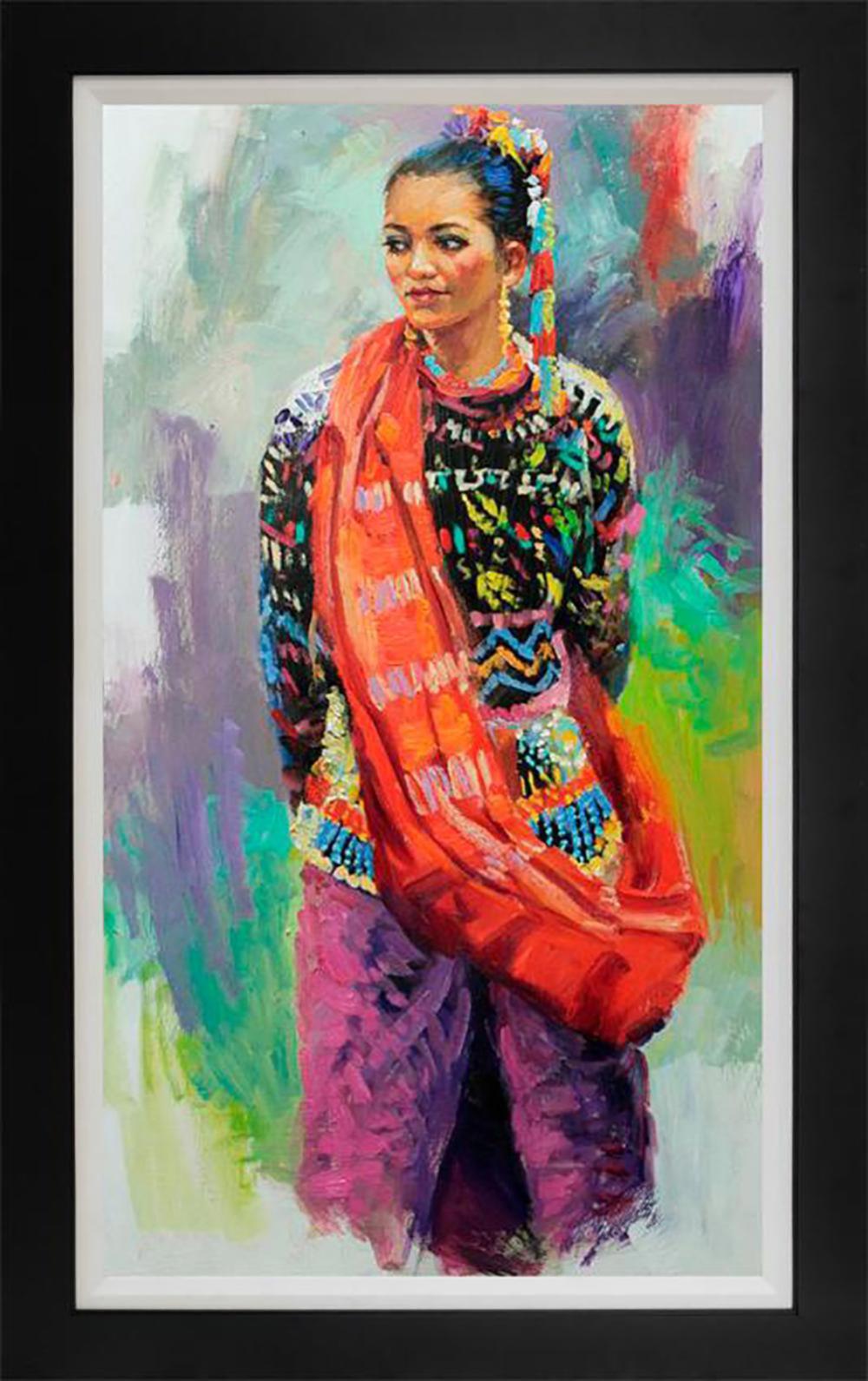 Rafael Maniago original mixed media on canvas