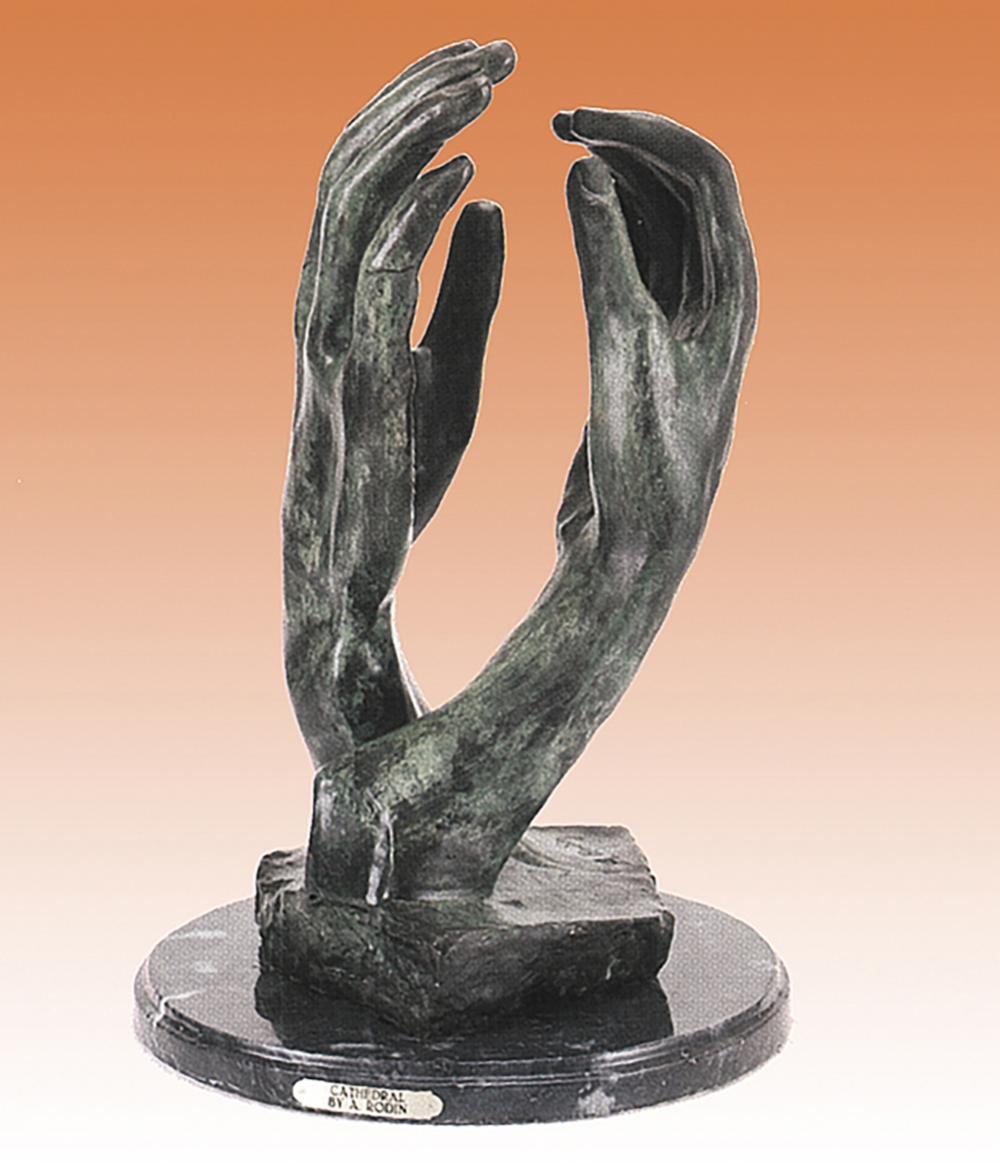 Praying Hands by August Rodin Bronze Sculpture