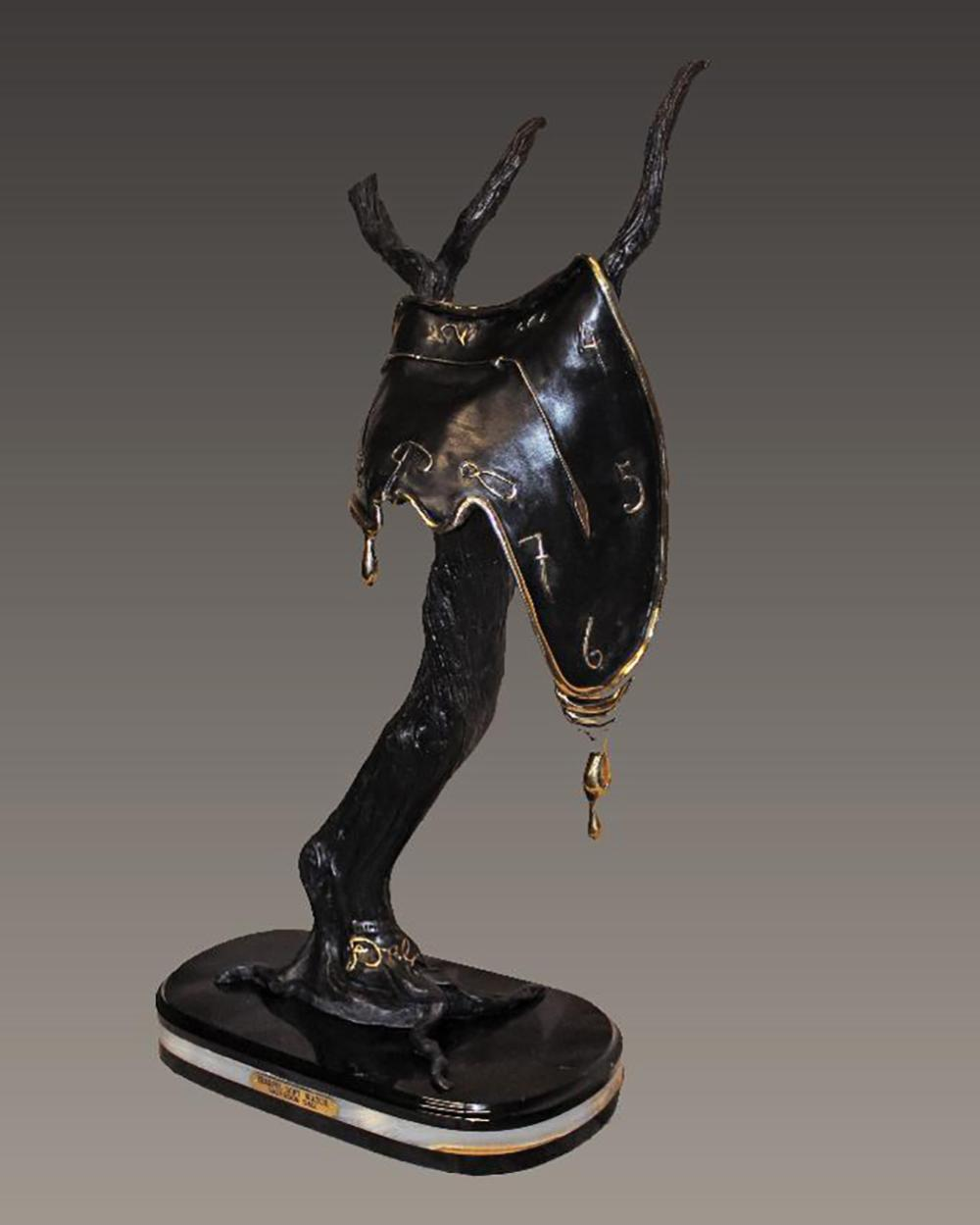 Salvador Dali Tearful Soft Watch Bronze Sculpture