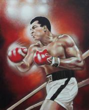 Muhammed Ali Original on canvas by Katherine Arion