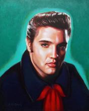 Elvis Presley Original on canvas by Katherine Arion