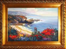 Rafael Mangiao- Large Magnificent Cliffs Original Oil