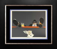 Waldemar Swierzy Original Lithograph Limited Edition Royal Flush