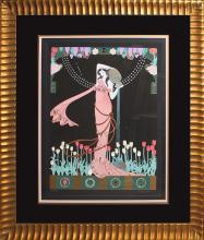 Lillian Shao -Mixed Media Original-Woman with a Vase