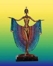 Sergey Lady Peacock Bronze Sculpture