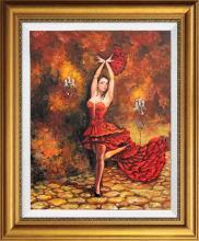 Arina Mixed Media Hand Embellished on canvas