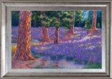 Robert Copple Pines in Purple Original on canvas