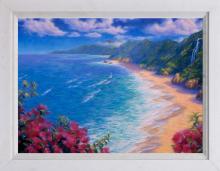 Robert Copple  Tropical Vista Original on canvas