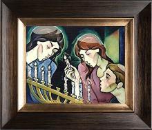 Zinovy Shersher Hannekah Original oil on canvas