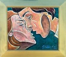 Zinovy Shersher Kiss Original oil on canvas