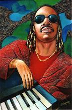 Giving Thanks  Stevie Wonder Original Oil on canvas by Zinovy Shersher