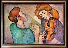 Zinovy Shersher Duet Original oil on canvas
