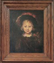 Rafael Oil on canvas after Rembrandt Titus