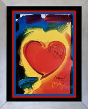 Peter Max Mixed Media on paper The Heart