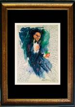 Frank Sinatra Le Roy Neiman Lithograph Hand signed