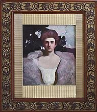 George Bellows Young Lady Original Oil on canvas