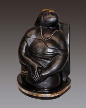 Pablo Picasso The Dream Patinated Bronze Sculpture