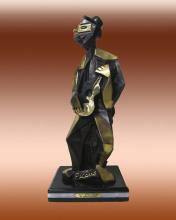 Pablo Picasso-Bronze Sculpture- Man with Guitar
