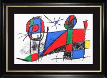 Joan Miro Hand Signed Original Lithograph