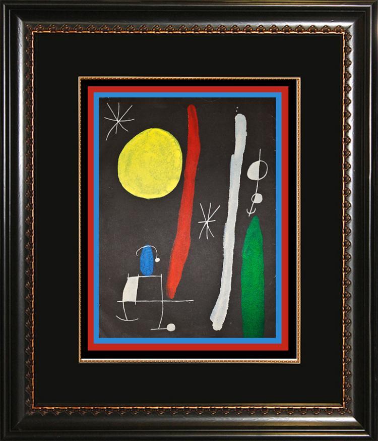 Joan miro original lithograph derriere le miroir 1967 paris for Miro derriere le miroir
