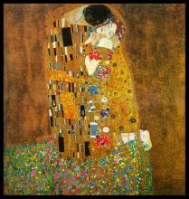 The Kiss After Gustav Klimt
