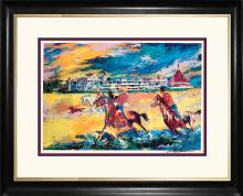 Le Roy Neiman Hand Signed Lithograph Horses