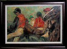 Edgar Degas-Jockeys & Horses