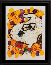 Snoopy by Tom Everhart Original Lithograph Limited Edition Squeeze the Day