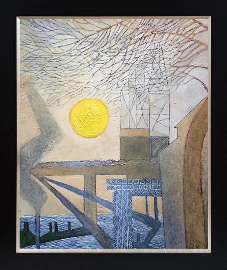 Alice Asmar Mixed media original on canvas