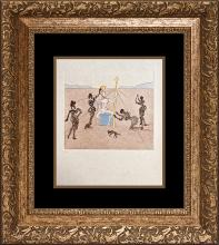 Salvador Dali Limited Edition Etching The Golden Helmet of Mandrino