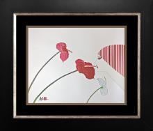 Limited Edition Serigraph by Hisashi Otsuka Kiss of Aloha