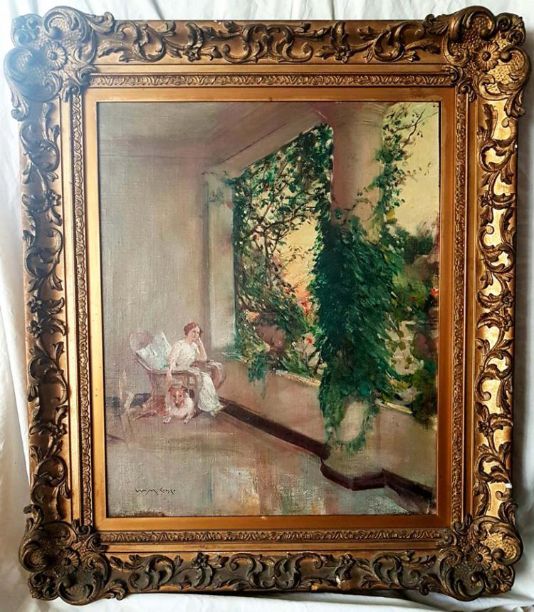 William Merritt Chase Oil on canvas (1849-1916)