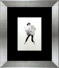 Elvis Original Lithograph Al Hirschfeld-Limited Edition
