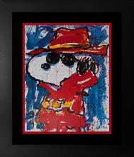 Original Lithograph by Tom Everhart Snoopy Undercover in Hollywood 2001 Limited Edition