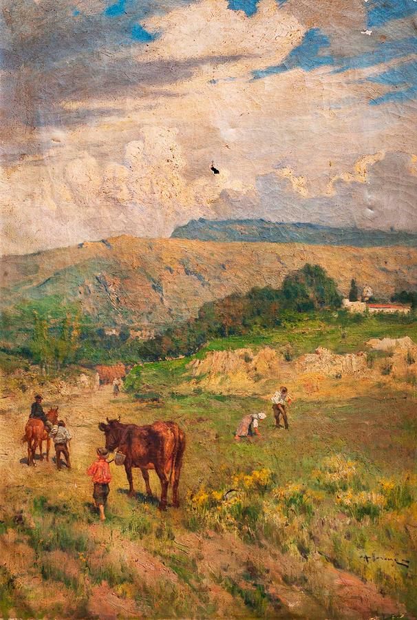 Carlo Adolfo BARONE (1861-1936) -  Original Oil on canvas.