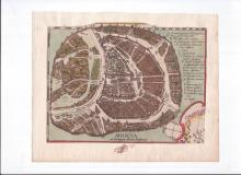 Moscows plan Godunov - engraving