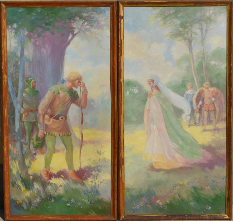 Lot of 2 Constantin BRUNI (1900-1969) Russian - French