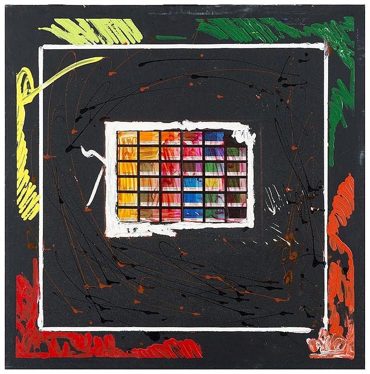 Enrico manera scala di colore acrilico su tela cm 80 x 80 - Scale di colore ...