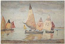 FERRUCCIO SCATTOLA Due dipinti, uno ad olio su tela e altro tavoletta cm 50 x 60; cm 43 x 62
