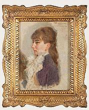 """CARL VON DER HELLEN """" Woman portrait"""""""