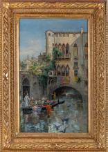 """EUGENIO OLIVA RODRIGO (Palencia, 1852 - Madrid, 1925) Título: """"Venezia"""""""