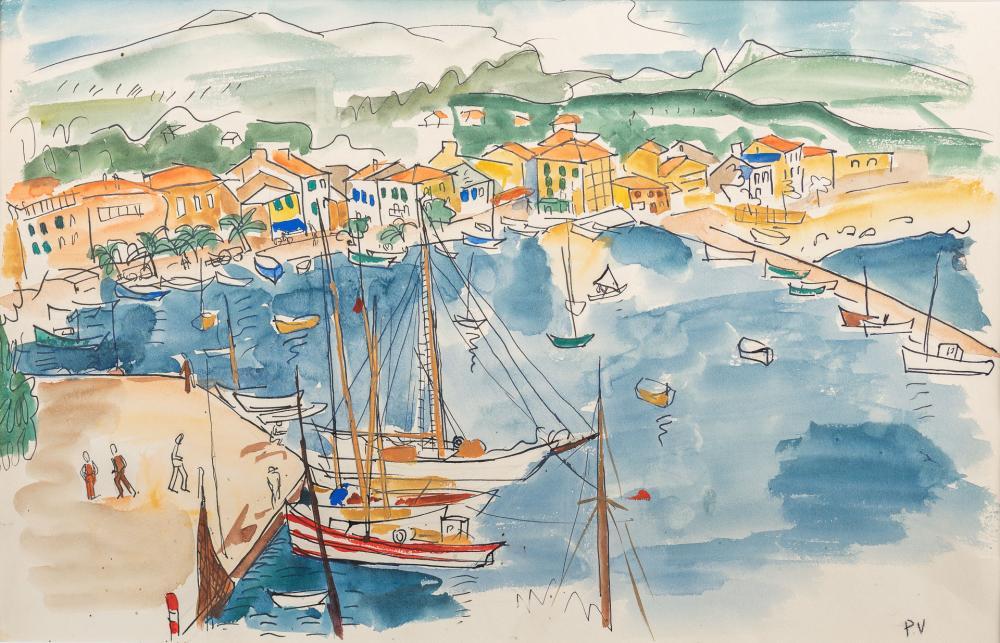 """PAULE VOULET """"Port de Sanary"""" PAULE VOULET - """"Port de Sanary""""."""