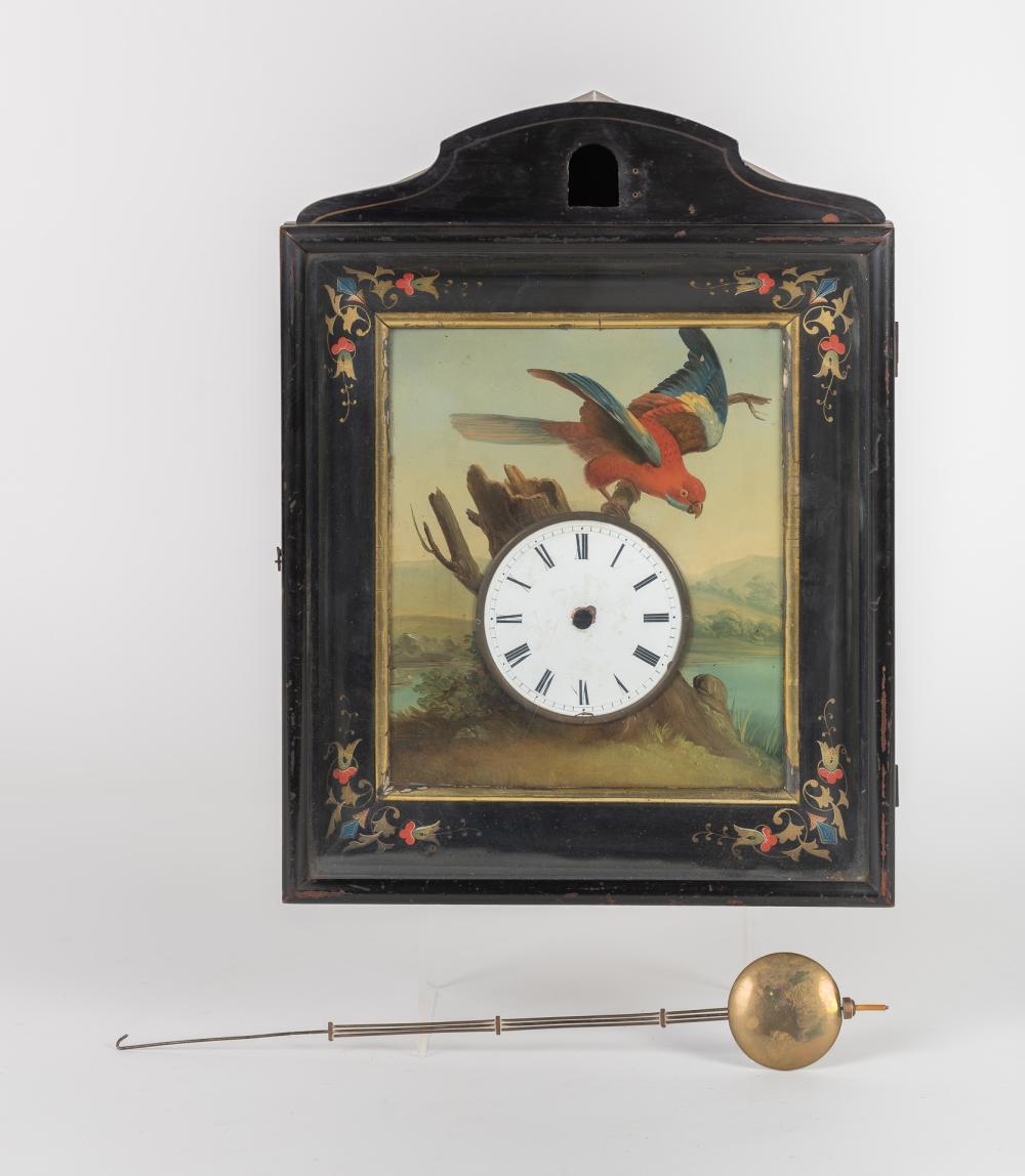 Caja de reloj de cartel sin maquinaria con frontal pintado.